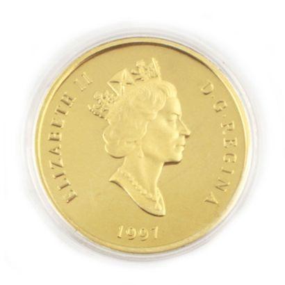 Une monnaie 100 dollars du Canada Alexander...