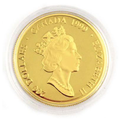 Une monnaie 200 dollars du Canada Papillon...