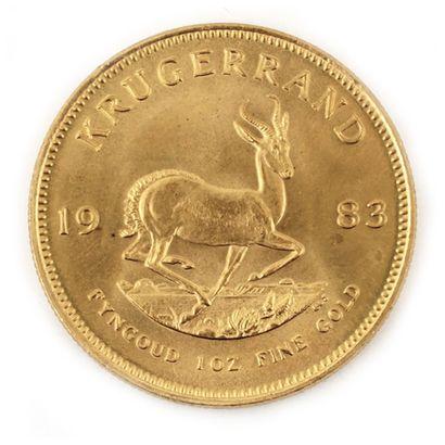 Une monnaie en or Krugerrand 1983