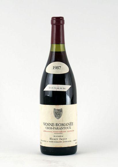 Vosne-Romanée Cros-Parentoux 1987  Vosne-Romanée...
