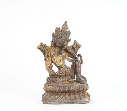 BRONZE  Sujet en bronze, représentant une...