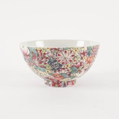 Tasse à thé de la famille rose « Fleur de...