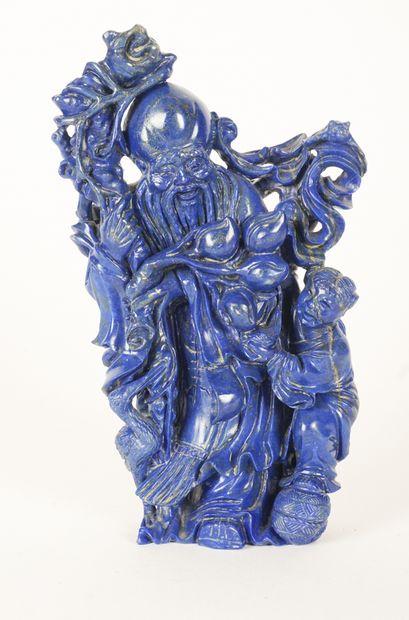 SCULPTURE  Sculpture en pierre bleue, possiblement...