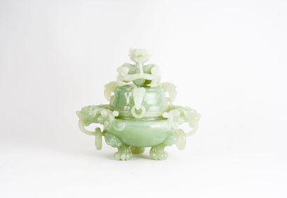 BRÛLE-PARFUM  Brûle-parfum en jade, reposant...