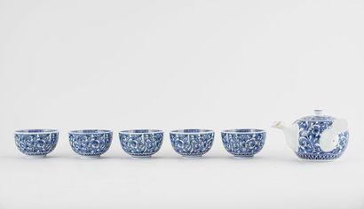 SERVICE  Service japonais en porcelaine à...