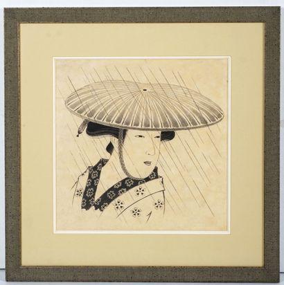 ESTAMPE  Estampe japonaise modern représentant...