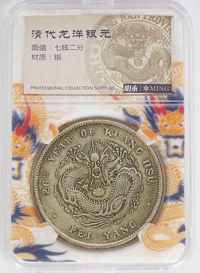 Monnaie Dragon dans son étui.  Poids : 2...