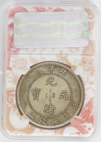 Monnaie Dragon dans son étui.  Poids : 26.84g