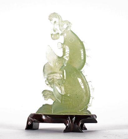 SERPENTINE  Figure chinoise en serpentine...