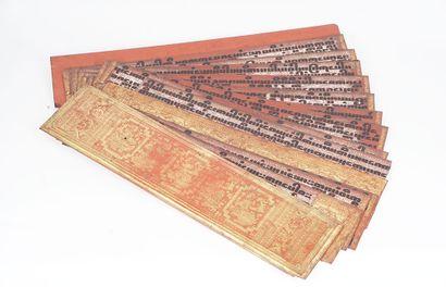 SUTRA  Livre à Sutra, textes birmaniques...