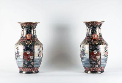 PAIRE DE VASES  Paire de vases chinois en...