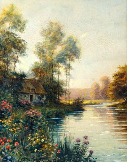 KNIGHT, Louis Aston (1873-1948)  Maison au...