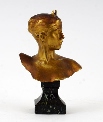 FALGUIERE, Alexandre (1831-1900)  Buste de...