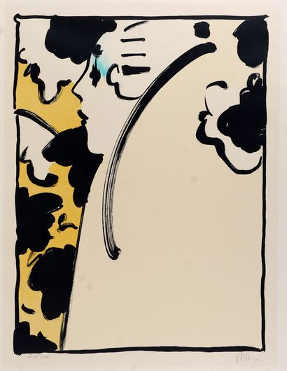 MAX, Peter (1937-)  Peach lady (1970)  Lithographie...