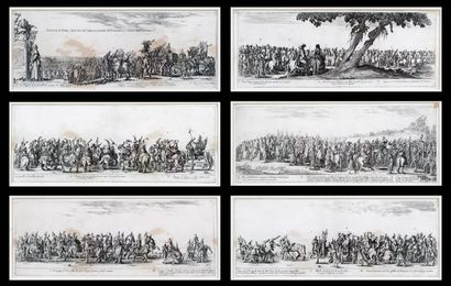 DELLA BELLA, Stefano (1610-1664)  Scènes...