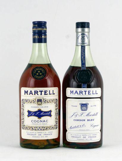 Cognac Martell 3 Étoiles  Niveau A  1 bouteille...