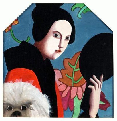 SCOTT, Louise (1936-2007)  Geisha et chien...