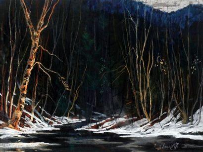 VINCELETTE, Roméo (1902-1979)  Forêt de nuit...