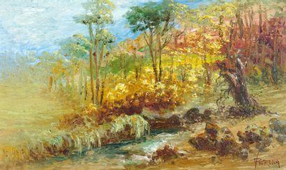 VERONA, Paul (1897-1966)  Sans titre - Paysage...