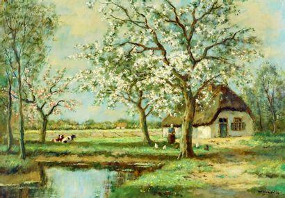 HENDRIKS, Willem (1888-1966)  Pastorale  Huile...