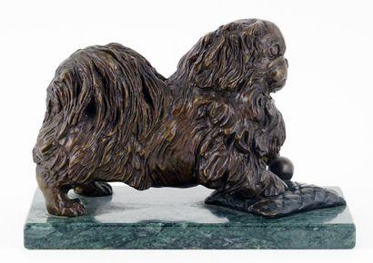 FOURNIER, Audrey (1941-2010)  Pékinois  Bronze...
