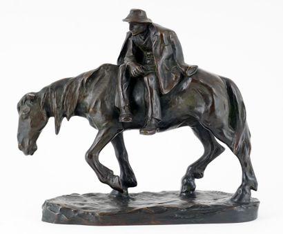 MÜLLER, Hans (1873-1937)  Vieil homme à cheval...
