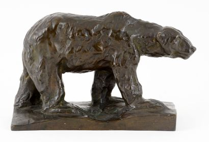 TOMBA, Cleto (1898-1987)  Ours  Bronze à...