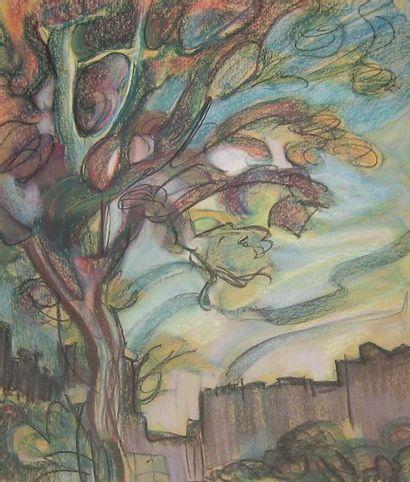 PÉPIN, Jean-Paul (1897-1983) Couleurs d'automne Pastel sur papier Signé en bas à...