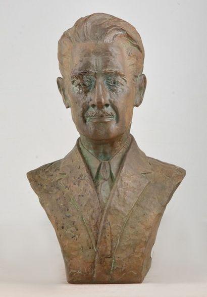 EVANS, Rudulph (1878-1960) Buste Bronze Signé...