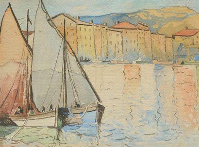 FORTIN, Marc-Aurèle (1888-1970) Voiliers...