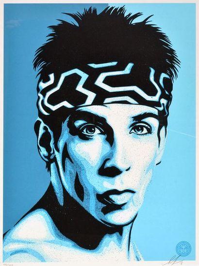 "FAIREY, Shepard (1970-) FAIREY, Shepard (1970-) ""Zoolander Blue Steel"" Sérigraphie..."
