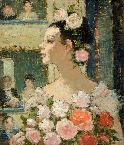 "EDZARD, Dietz (1893-1963) EDZARD, Dietz (1893-1963) ""Danseuse étoile"" Huile sur toile..."
