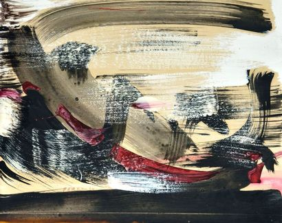 FERRON, Marcelle (1924-2001) FERRON, Marcelle (1924-2001) Sans titre Huile sur papier...