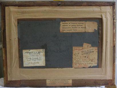 YEATS Jack Butler (1871 1957) Sculling (Godille), 1912 Huile sur panneau, signée...