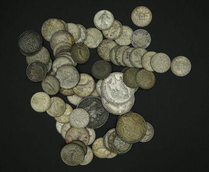 Ensemble de pièces en argent : 3 pièces de...
