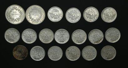 Ensemble de pièces en argent : 2 pièces 10...