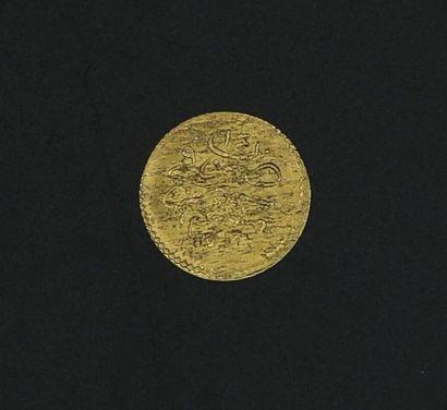 Monnaie étrangère en or - 0.42 g / Ø. 13...