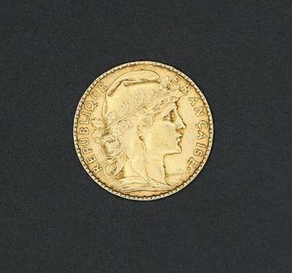 Pièce de 20 francs or Coq de Chaplain 1907...