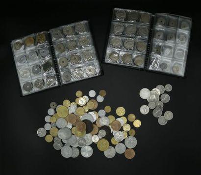 Ensemble de monnaies démonetisées françaises...
