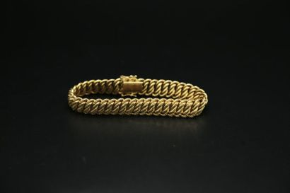 * Bracelet en or jaune 750 millièmes maille...
