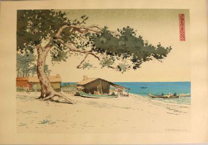 ARCACHON/ALAUX (Jean-Paul) Visions japonaises. Préface de Pierre Gounod Paris, Devambez,...