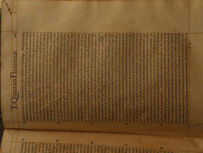 PLUTARQUE Les vies des hommes illustres grecs & romains comparées l'une avec l'autre...