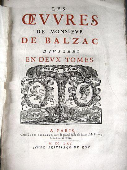 9. BALZAC (Jean-Louis Guez de). Les OEuvres....