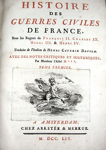 40. DAVILA (Enrico Caterino). Histoire des...