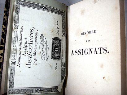 4. [Anonyme]. Histoire des assignats. Paris,...