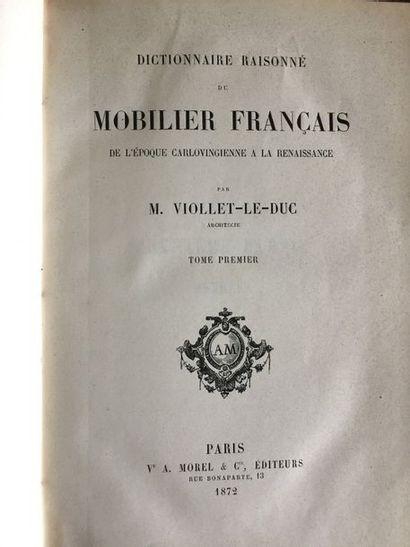 VIOLLET-LE-DUC. Ensemble de 6 ouvrages de...