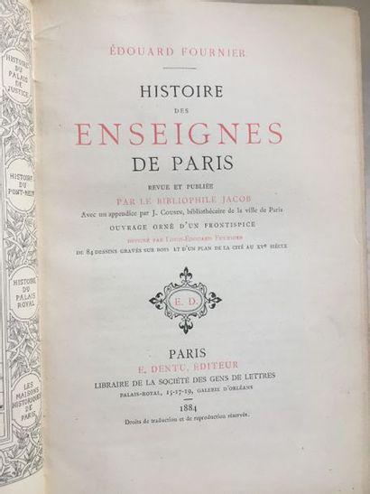 [PARIS]. Ensemble de 7 livres des XVIIIe...