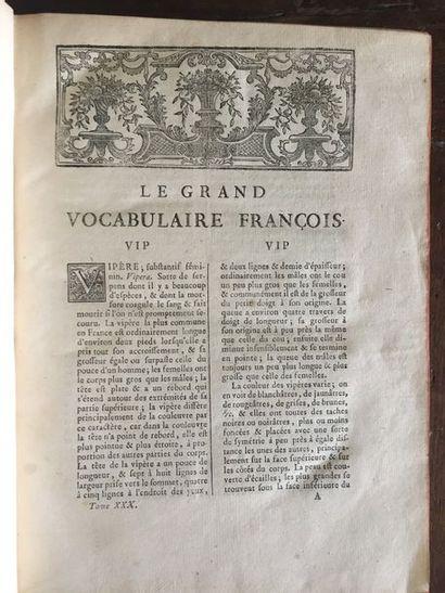 [PANCKOUCKE]. Le grand vocabulaire françois…...