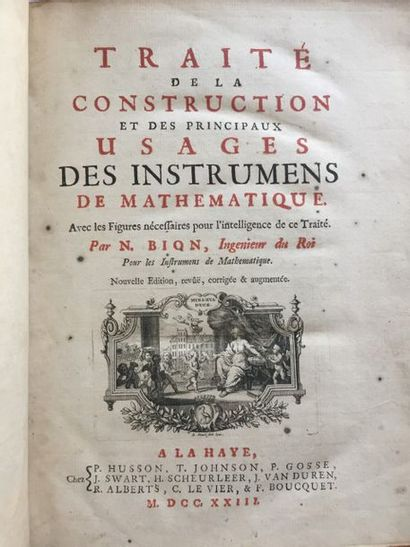 BION. Traité de la construction et des principaux...