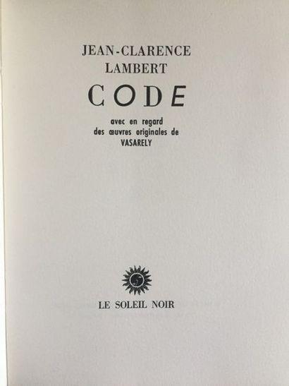 [VASARELY] - LAMBERT, Jean Clarence. Code....